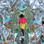 Shipping container turned into a human-scale kaleidoscope