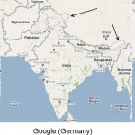 Google's changable map boundaries