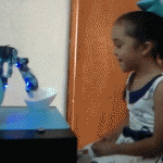 Adorable robotic spoon teaches kids how to eat