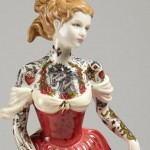 Traditional porcelain dolls inked for modern society