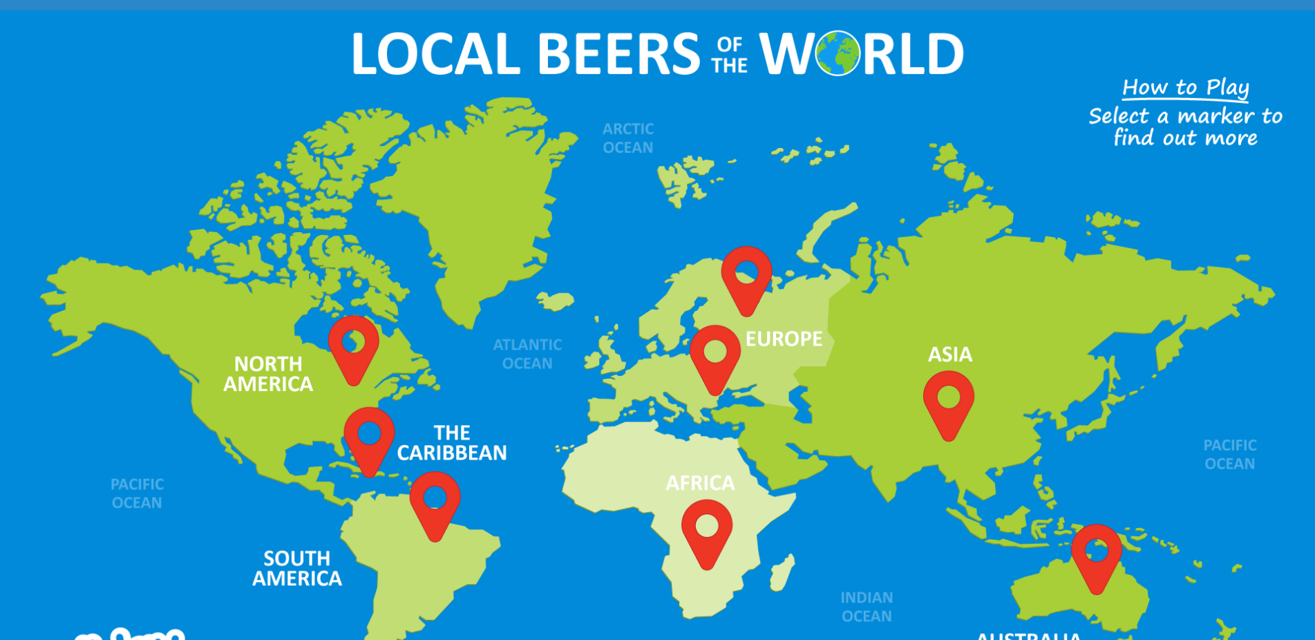 New interactive map showcases local beers of the world you can enjoy while on holiday