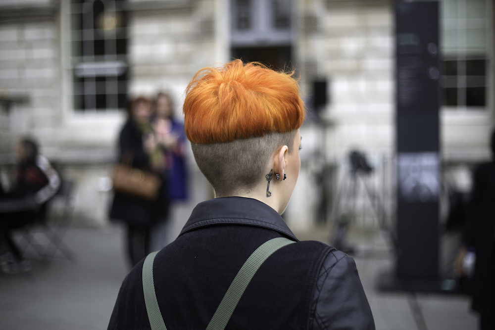 LFW 2014 Orange Hair