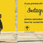 If you printed off all the Instagram photos uploaded in a year, how far would they reach?