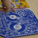 LP sleeve is a blue-tooth DJ controller