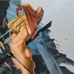 James Bullough's realistic, fractured portraits